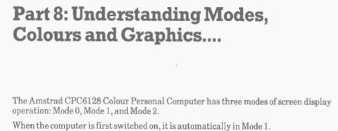 Amstrad CPC6128 - Graphic Modes