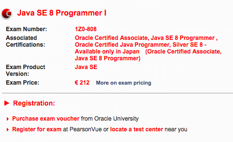 The Oracle Java SE Programmer Exam